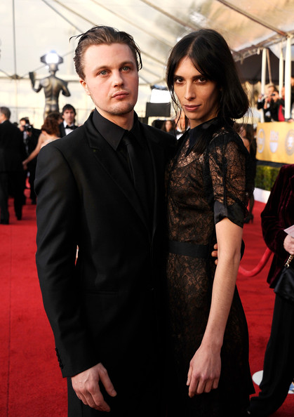 Actor Michael Pitt (L) and Jamie Bochert arrive at the 17th Annual Screen Actors Guild Awards held at The Shrine Auditorium on January 30, 2011 in Los Angeles, California.