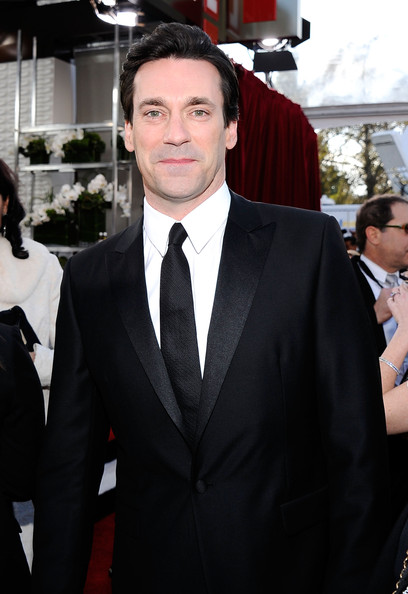 Actor Jon Hamm arrives at the 17th Annual Screen Actors Guild Awards held at The Shrine Auditorium on January 30, 2011 in Los Angeles, California.