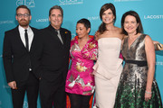 (L-R) Actors Kevin Christy, costume designer Ane Crabtree, actress Betsy Brandt and producer/writer Michelle Ashford attend the 17th Costume Designers Guild Awards with presenting sponsor Lacoste at The Beverly Hilton Hotel on February 17, 2015 in Beverly Hills, California.