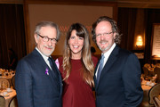 (L-R) Steven Spielberg, Patty Jenkins and AFI president and CEO Bob Gazzale attend 18th Annual AFI Awards at Four Seasons Hotel Los Angeles at Beverly Hills on January 5, 2018 in Los Angeles, California.