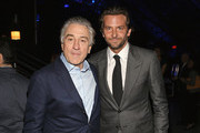 Actors Robert DeNiro and Bradley Cooper attend the 18th Annual Critics' Choice Movie Awards held at Barker Hangar on January 10, 2013 in Santa Monica, California.