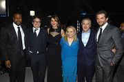 (L-R) Actor Chris Tucker, director David O. Russell, actors Jennifer Lawrence, Jacki Weaver, Robert DeNiro and Bradley Cooper attend the 18th Annual Critics' Choice Movie Awards held at Barker Hangar on January 10, 2013 in Santa Monica, California.