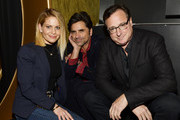 "Candace Cameron-Bure, John Stamos, and Bob Saget attend the 18th Annual International Beverly Hills Film Festival Opening Night Gala Premiere of ""Benjamin"" at TCL Chinese 6 Theatres on April 4, 2018 in Hollywood, California."