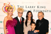 (L to R) Shawn King, Murray, Sara Evans, Ethan Bortnick and Larry King pose for a photo at the 18th Annual Larry King Cardiac Foundation Gala at Ritz Carlton Hotel on May 19, 2012 in Washington, DC.
