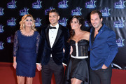 (L-R) Ingrid Chauvin,Hatem Ben Arfa,Laetitia Millot and Thierry Peythieu attend the 18th NRJ Music Awards at Palais des Festivals on November 12, 2016 in Cannes, France.