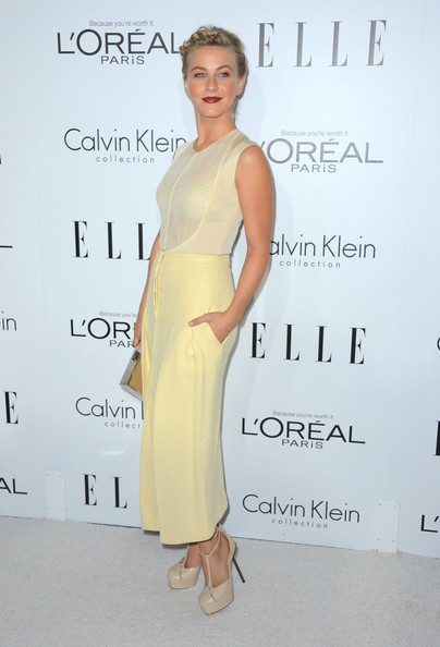 Actress Julianne Hough arrives at ELLE's 19th Annual Women In Hollywood Celebration at the Four Seasons Hotel on October 15, 2012 in Beverly Hills, California.