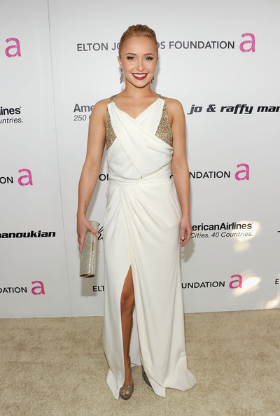 Actress Hayden Panettiere arrives at the 19th Annual Elton John AIDS Foundation Academy Awards Viewing Party at the Pacific Design Center on February 27, 2011 in West Hollywood, California.