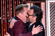 Host James Corden (L) and actor Mark Ruffalo embrace onstage during the 19th Annual Hollywood Film Awards at The Beverly Hilton Hotel on November 1, 2015 in Beverly Hills, California.