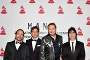 (L-R) Honorees Sergio Vallin, Juan Calleros, Fher Olvera, and Alex Gonzalez of Mana attend the Person of the Year Gala honoring Mana during the 19th annual Latin GRAMMY Awards at the Mandalay Bay Events Center on November 14, 2018 in Las Vegas, Nevada.