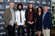 (L-R) Director Steve James, comedian  Wyatt Cenac, director Mike Cahill, founder of the Nantucket Film Fesitval Jill Burkhart and Epix CEO Mark Greenberg attend The Screenwriters Tribute at The 19th Annual Nantucket Film Festival on June 28, 2014 in Nantucket, Massachusetts.