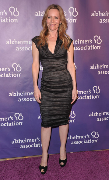 "Actress Leslie Mann arrives to the 19th Annual ""A Night at Sardi's"" benefitting the Alzheimer's Association on March 16, 2011 in Beverly Hills, California."
