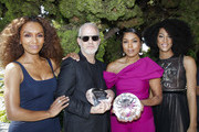 (L-R) Janet Mock, Ryan Murphy, Angela Bassett and Mj Rodriguez attend the 1st annual AAFCA TV Honors at California Yacht Club on August 11, 2019 in Marina del Rey, California.