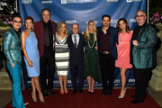 (L-R) Host Newman Arndt, actors Susan Yeagley and Kevin Nealon, singer-songwriter Sheryl Crow, figure skater Scott Hamilton, Tracie Hamilton of J/P HRO, singer-songwriter Brad Paisley, actor Kimberly Williams-Paisley, and host Johnathon Arndt attend the 1st Annual Nashville Shines for Haiti concert benefiting J/P Haitian Relief Organization - Day 1 on April 26, 2016 in Nashville, Tennessee.