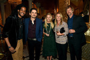 (L-R) Musical artists Paul Beaubrun and Brad Paisley, Tracie Hamilton of J/P HRO, Krista Marcy, and Kendal Marcy attend the 1st Annual Nashville Shines for Haiti concert benefiting J/P Haitian Relief Organization - Day 1 on April 26, 2016 in Nashville, Tennessee.