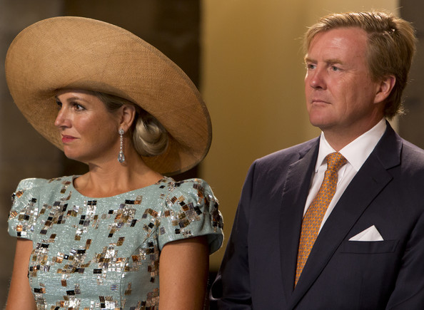 (L-R) Queen Maxima of The Netherlands and King Willem-Alexander of The Netherlands attend celebrations marking the 200th anniversary of the kingdom of The Netherlands on August 30, 2014 in Maastricht, The Netherlands.