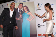 Actor Amaury Nolasco and actress Eva Longoria Parker attend the 2009 ALMA Awards Nomination Announcement on August 25, 2009 in Los Angeles, California.