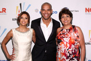 Actress Eva Longoria Paker, actor Amaury Nolasco and NCLR CEO Janet Murguia attend the 2009 ALMA Awards Nomination Announcement on August 25, 2009 in Los Angeles, California.