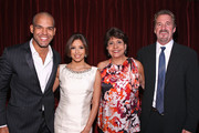 Actor Amaury Nolasco, actress Eva Longoria Parker, NCLR CEO Janet Murguia and producer Bob Bain attend the 2009 ALMA Awards Nomination Announcement on August 25, 2009 in Los Angeles, California.