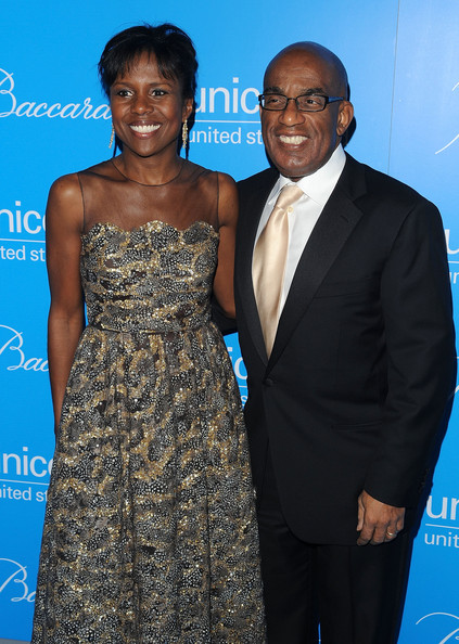 Al Roker with cool, beautiful, Wife  Deborah Roberts