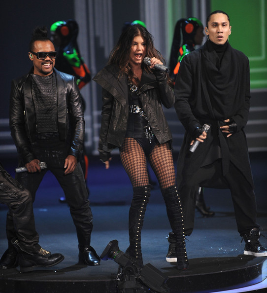 Apl.de.ap, Fergie and Taboo of The Black Eyed Peas perform at the Victoria's Secret fashion show at The Armory on November 19, 2009 in New York City.