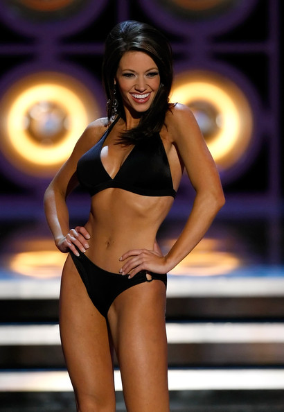 Sarah Slocum Sarah Slocum, Miss Arkansas, competes in a preliminary swimsuit