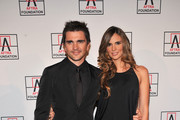 Musician Juanes (L) and Karen Martinez attend the 2010 AFTRA AMEE Awards at The Grand Ballroom at The Plaza Hotel on February 22, 2010 in New York City.