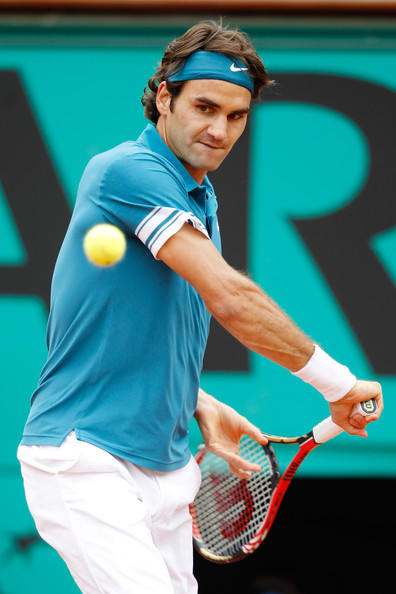 Roger Federer in 2010 French Open - Day Eight