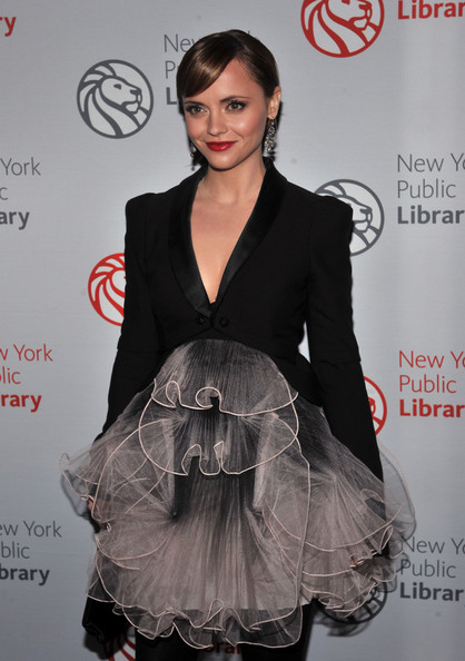 Actress Christina Ricci attends the 2010 Library Lions Benefit at The New York Public Library on November 1, 2010 in New York City.