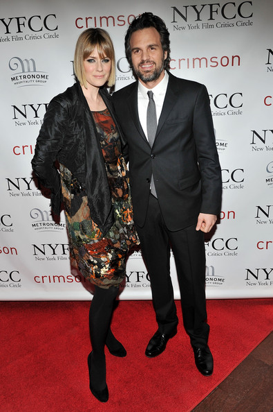 Sunrise Coigney and actor Mark Ruffalo attend the 2010 New York Film Critics Circle Awards at Crimson on January 10, 2011 in New York City.