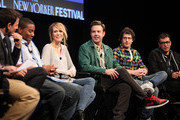 (L-R) Seth Meyers, Kenan Thompson, Kristen Wiig, Jason Sudeikis, Andy Samberg and Fred Armisen during the 2010 New Yorker Festival at Acura at SIR Stage37 on October 3, 2010 in New York City.