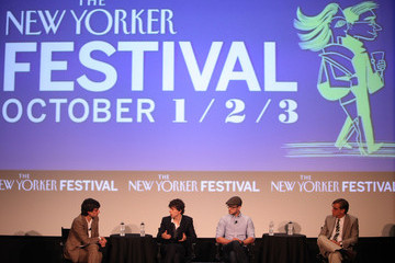 """Justin Timberlake Jesse Eisenberg The 2010 New Yorker Festival: """"The Social Network"""" Panel Discussion"""