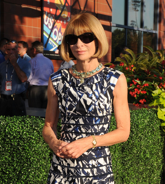 Editor-In-Chief of American Vogue Anna Wintour attends the 2010 US Open Opening Night Ceremony at the USTA Billie Jean King National Tennis Center on August 30, 2010 in the Queens borough of New York City.