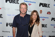 Actor Aidan Quinn and Elizabeth Bracco attend the 2010 Public Theater Gala at the Delacorte Theater on June 21, 2010 in New York City.
