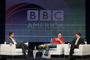 "Senior VP Programming BBC America Richard De Croce, Creator Ben Richards and actor Eric Mabius speak during the ""Outcasts"" panel during the BBC America portion of the 2010 Summer TCA press tour held at the Beverly Hilton on August 7, 2010 in Beverly Hills, California."
