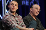 "Actors Theo Rossi and Dayton Callie of the television show ""Sons of Anarchy"" speaks during the FX portion of the 2010 Summer TCA Press Tour at the Beverly Hilton Hotel on August 3, 2010 in Beverly Hills, California."