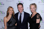 Cristina Greeven Cuomo, media personality Chris Cuomo and actress Uma Thurman attend the 2010 Turnaround For Children benefit dinner at The Plaza Hotel on April 13, 2010 in New York City.