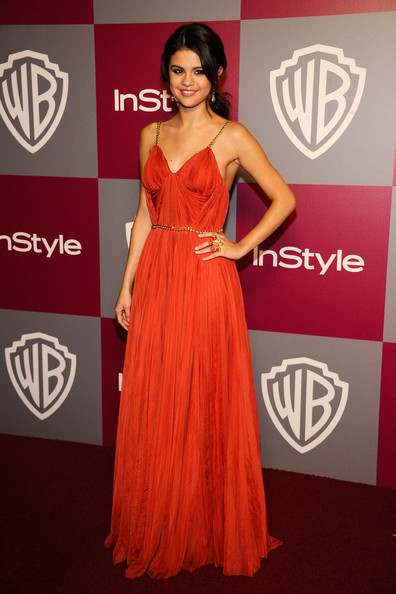 Actress Selena Gomez arrives at the 2011 InStyle And Warner Bros. 68th Annual Golden Globe Awards post-party held at The Beverly Hilton hotel on January 16,