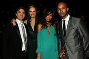 (L-R) Archie Drury, Karolina Kurkova, Chanel Iman and guest attend a supper following the 2011 CFDA Fashion Awards at Alice Tully Hall, Lincoln Center on June 6, 2011 in New York City.