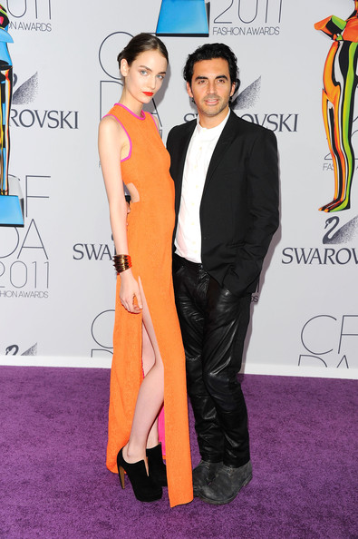 Zuzanna Bijoch and Yigal Azrouel attend the 2011 CFDA Fashion Awards at Alice Tully Hall, Lincoln Center on June 6, 2011 in New York City.