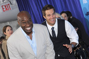 Actors Michael Clarke Duncan and Geoff Stults attend the 2011 Fox Upfront at Wollman Rink - Central Park on May 16, 2011 in New York City.