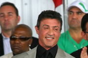 Sylvester Stallone laughs  during the 2011 International Boxing Hall of Fame Inductions at the International Boxing Hall of Fame on June 12, 2011 in Canastota, New York. Stallone was a 2011 inductee.