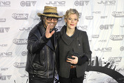 Daniel Lanois and Trixie Whitley pose on the red carpet at the 2011 Juno Awards at Air Canada Centre on March 27, 2011 in Toronto, Canada.