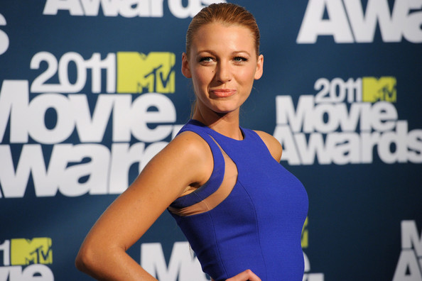 Actress Blake Lively poses in the press room during the 2011 MTV Movie Awards at Universal Studios' Gibson Amphitheatre on June 5, 2011 in Universal City, California.