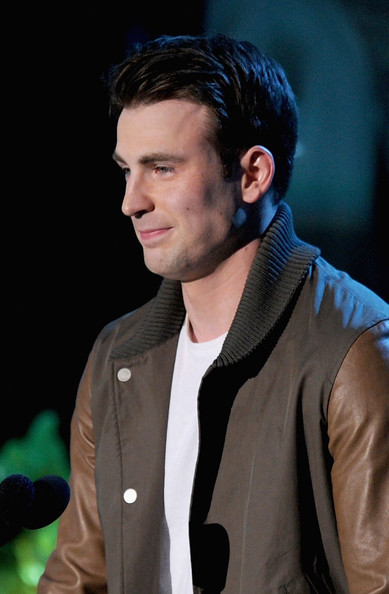 Actor Chris Evans speaks onstage during the 2011 MTV Movie Awards at Universal Studios' Gibson Amphitheatre on June 5, 2011 in Universal City, California.