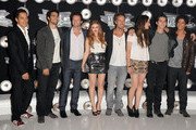 "Cast members of ""Teen Wolf"" arrive at the 2011 MTV Video Music Awards at Nokia Theatre L.A. LIVE on August 28, 2011 in Los Angeles, California."