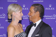 Sportscaster Bryant Gumbel (R) and his wife, Hilary Quinlan Gumbel attend the 2011 Rita Hayworth Gala at The Waldorf=Astoria on October 25, 2011 in New York City.