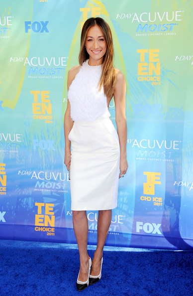 Actress Maggie Q arrives at the 2011 Teen Choice Awards held at the Gibson Amphitheatre on August 7, 2011 in Universal City, California.