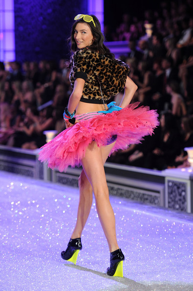 Model Jacquelyn Jablonski walks the runway during the 2011 Victoria's Secret Fashion Show at the Lexington Avenue Armory on November 9, 2011 in New York City.