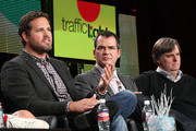 (L-R)Actor David Denman, producers David Hemingson and Bob Fisher speak onstage during the 'Traffic Light' panel at the FOX Broadcasting Company portion of the 2011 Winter TCA press tour held at the Langham Hotel  on January 11, 2011 in Pasadena, California.