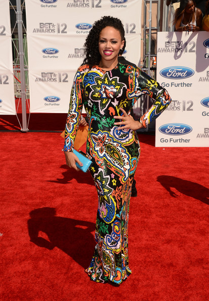Singer Elle Varner arrives at the 2012 BET Awards at The Shrine Auditorium on July 1, 2012 in Los Angeles, California.